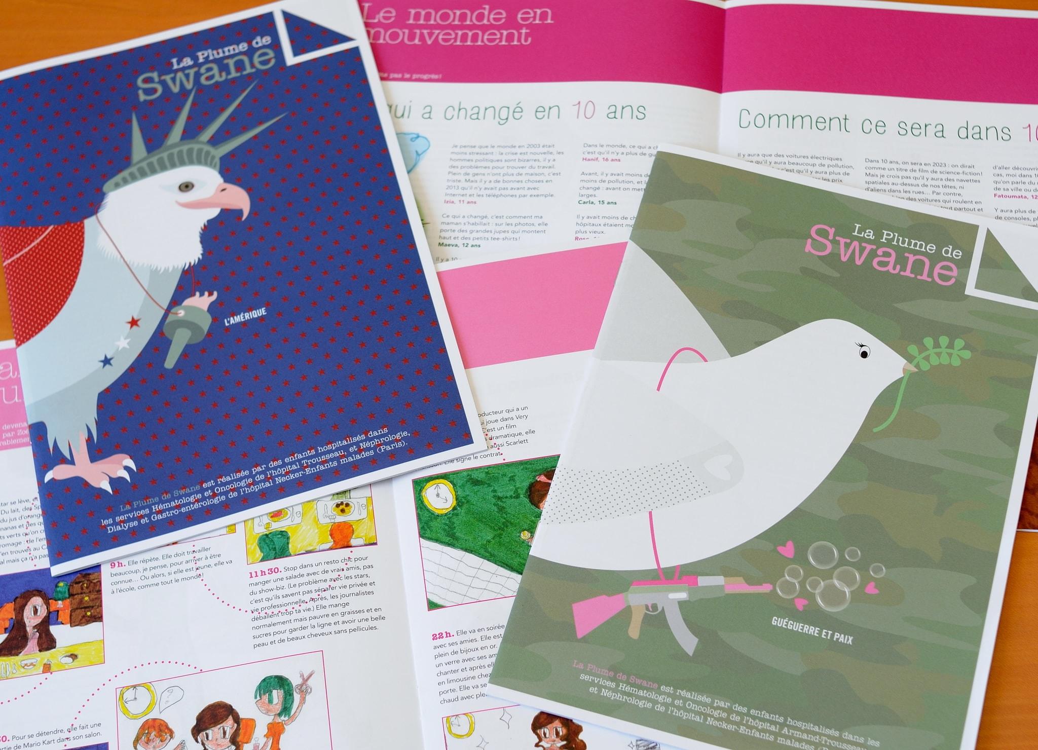 Les couvertures du magazine La Plume de Swane