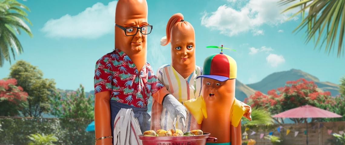 La famille Saucisse fait un barbecue