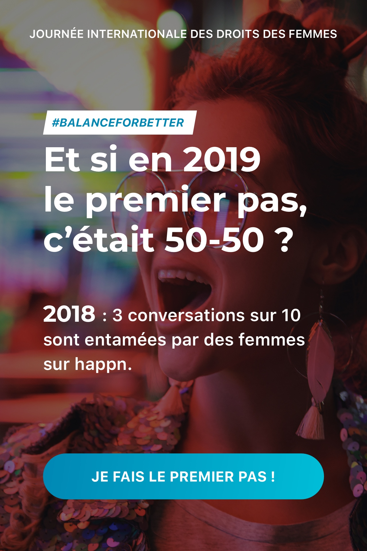 Campagne Happn 50/50