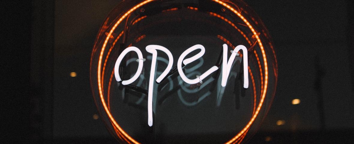 Signe néon open