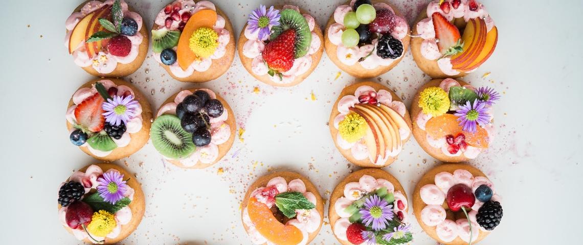 Des donuts vus de haut