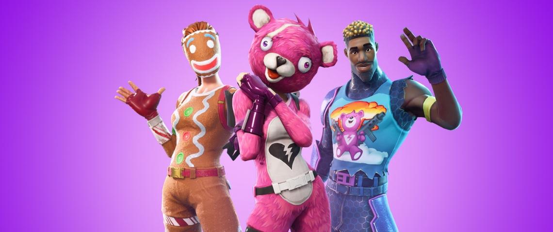 3 personnages de Fortnite