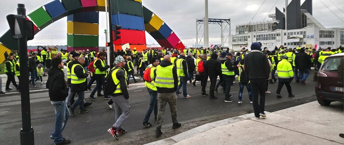 manifestation de gilets jaunes au Havre