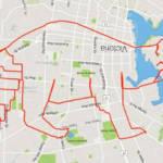 un raton laveur dessiné via GPS