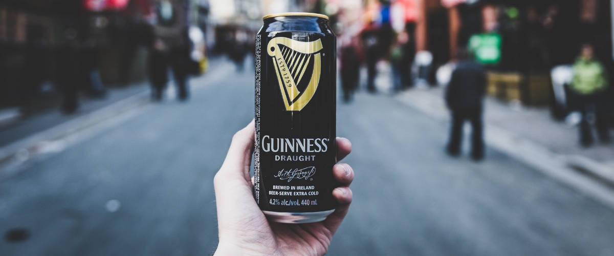 Une cannette de Guinness
