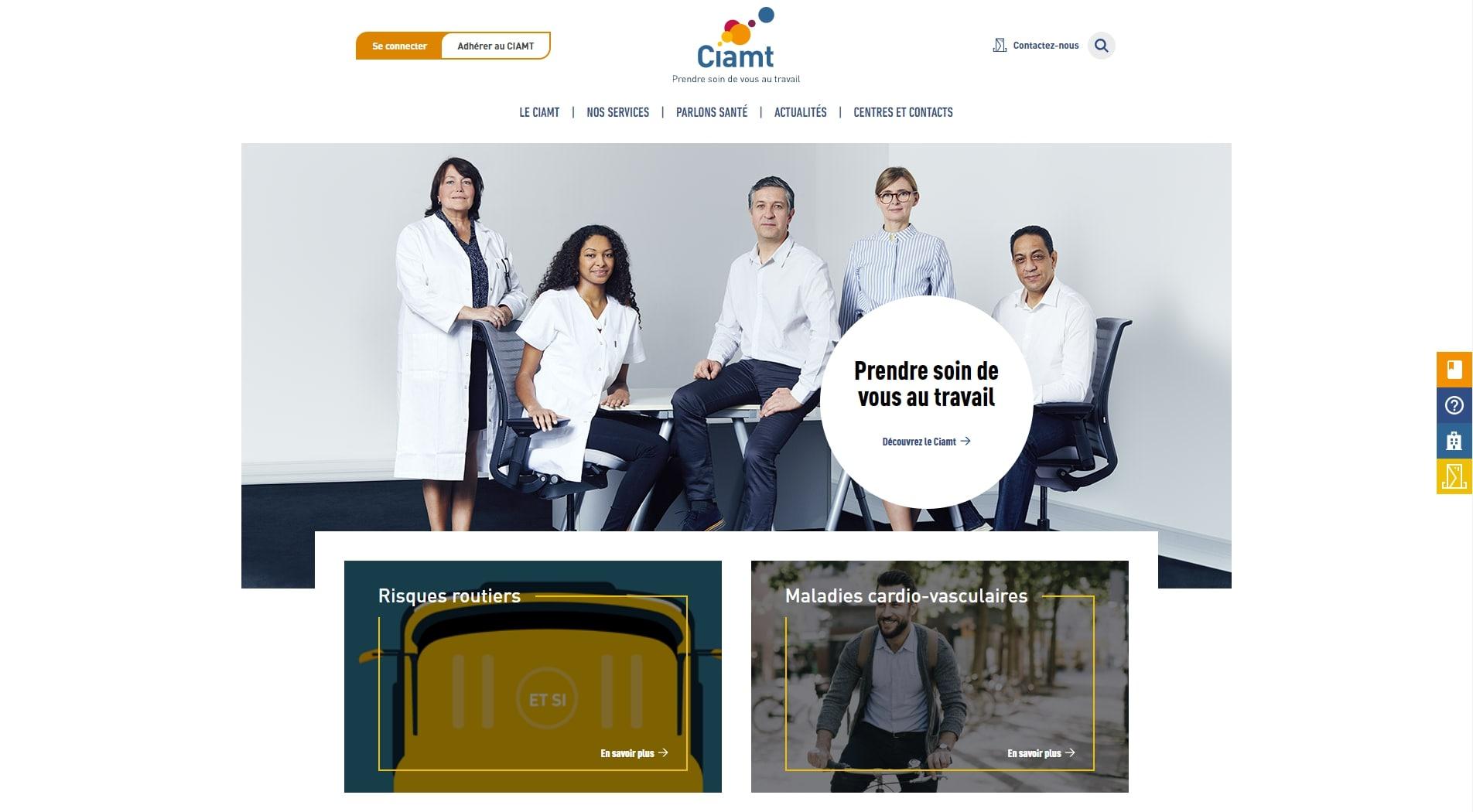 Homepage du site du Ciamt