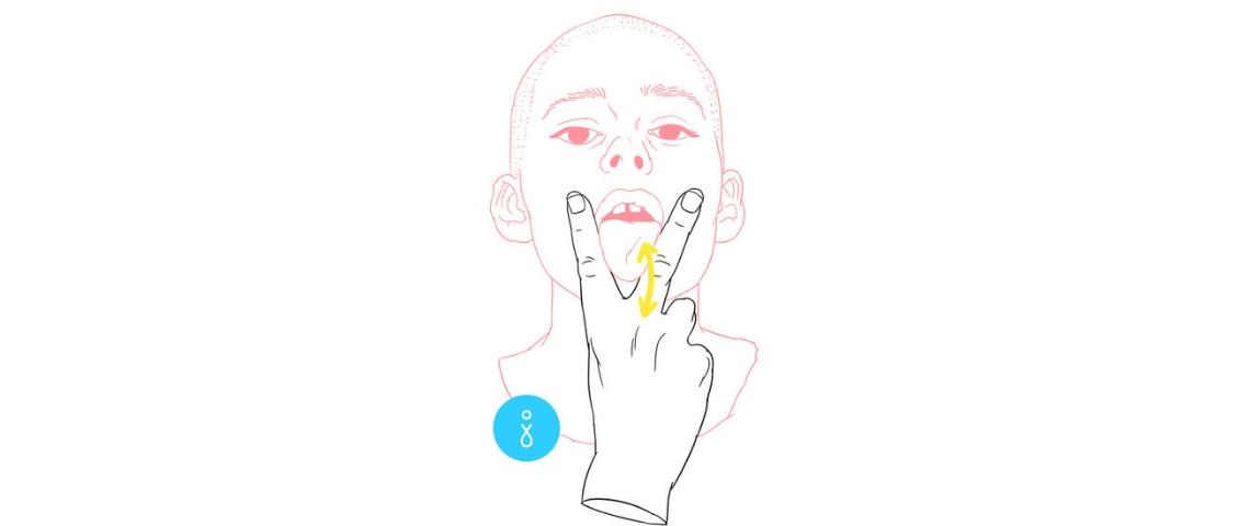 Illustration signée Jouissance Club d'un homme qui tire la langue