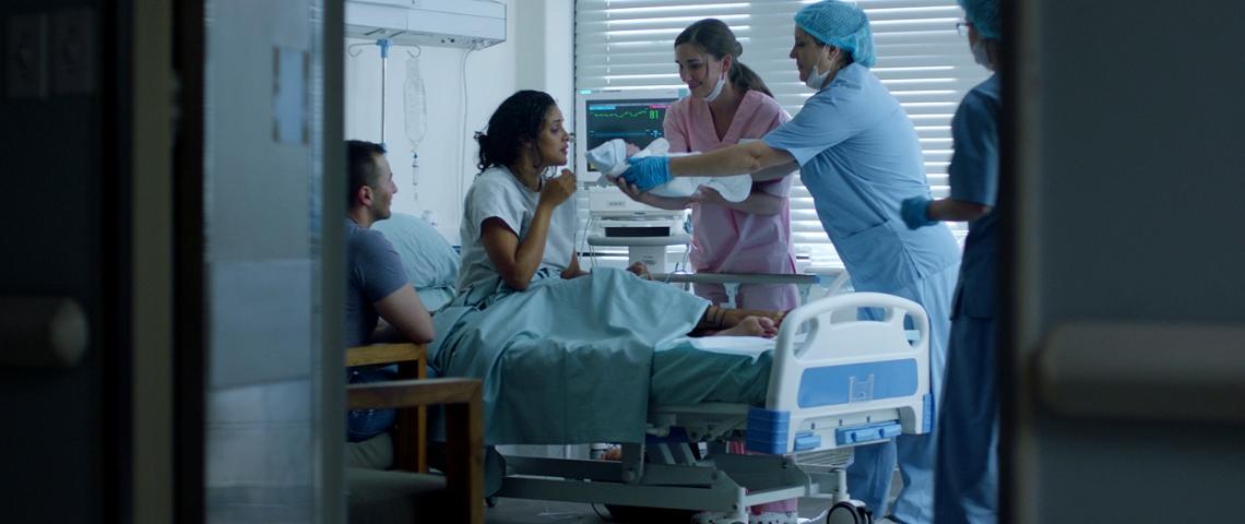 Une salle d'accouchement
