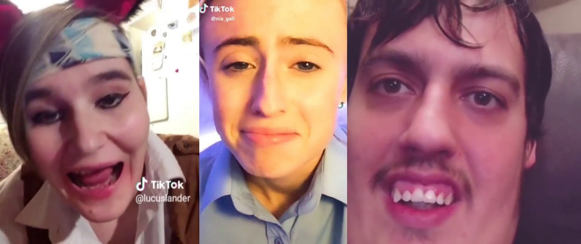 des visages qui grimacent sur TikTok