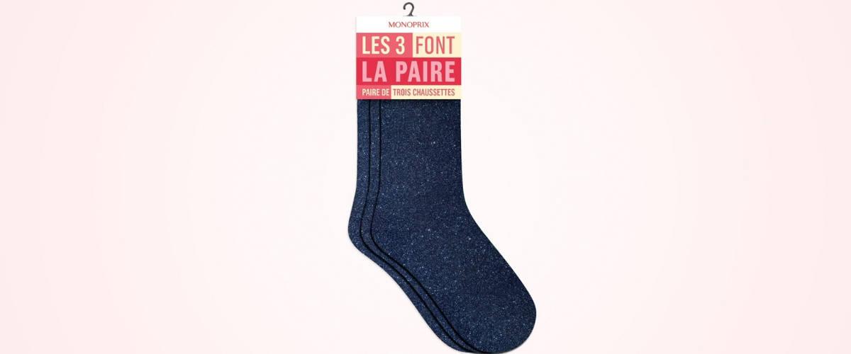 Pack de 3 chaussettes Monoprix