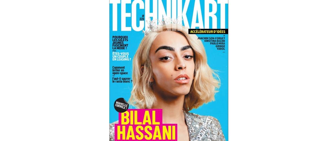 La couverture de technikart avec Bilal Assani