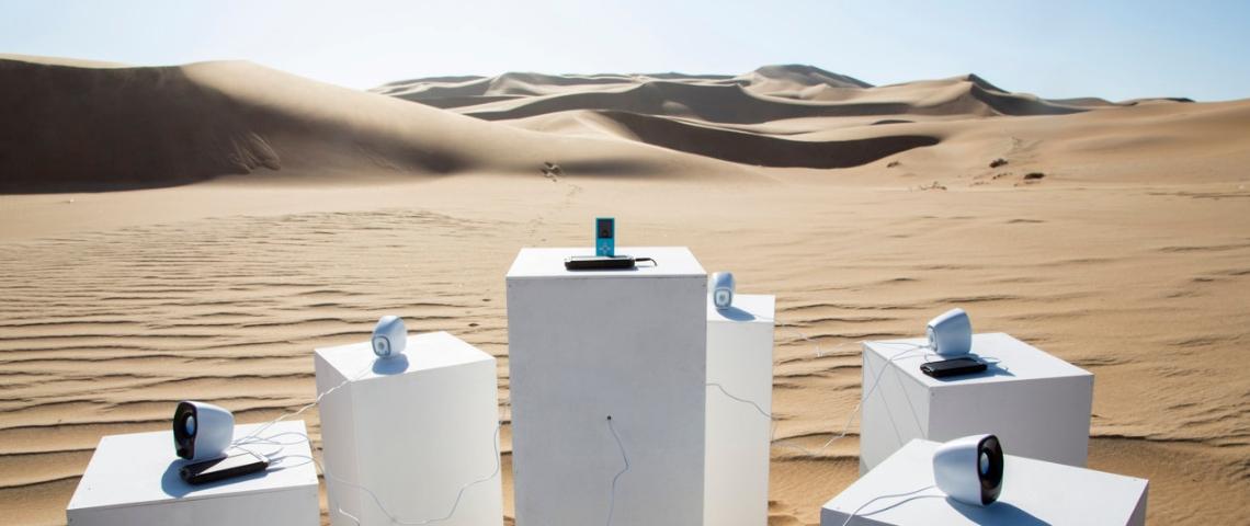 un système sonore dans le désert