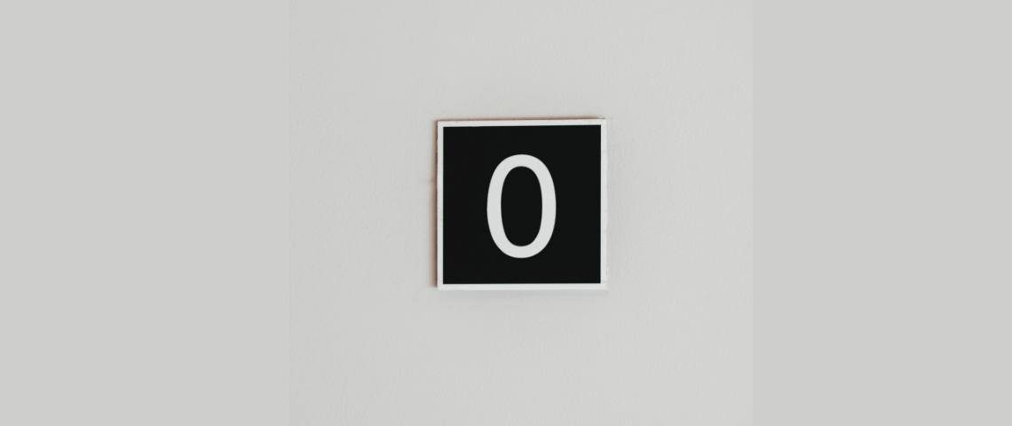 Le chiffre zéro