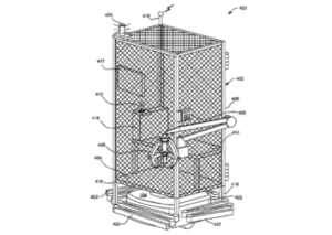 image issue d'un brevet d'Amazon d'une cage pour salarié
