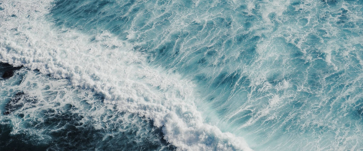 Océan photographié de haut