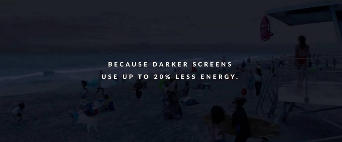 écran sombre