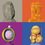 des personnages de marionnette
