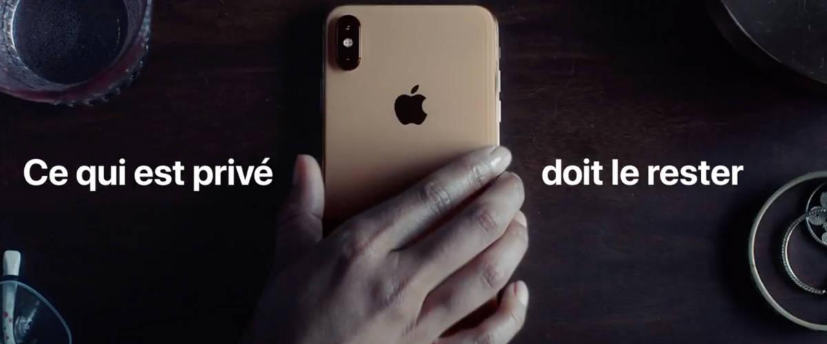 Extrait du Spot Apple ''Vie privée''