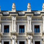 Les locaux de BNP Paribas en Italie. Un batiment ancien et architectural.