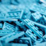 Briques LEGO bleus
