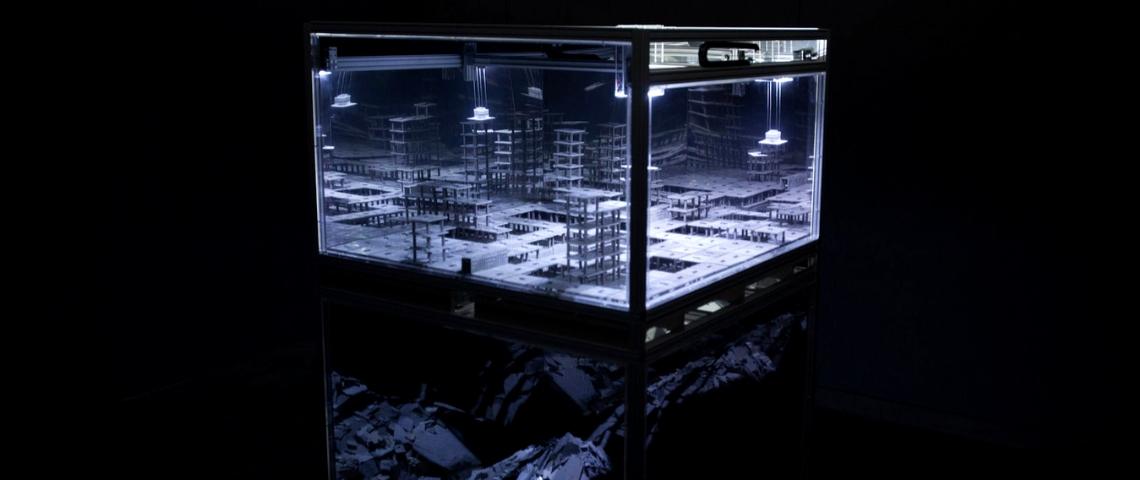 Fascinant : le phénomène des « villes fantômes » reproduit en live par un robot
