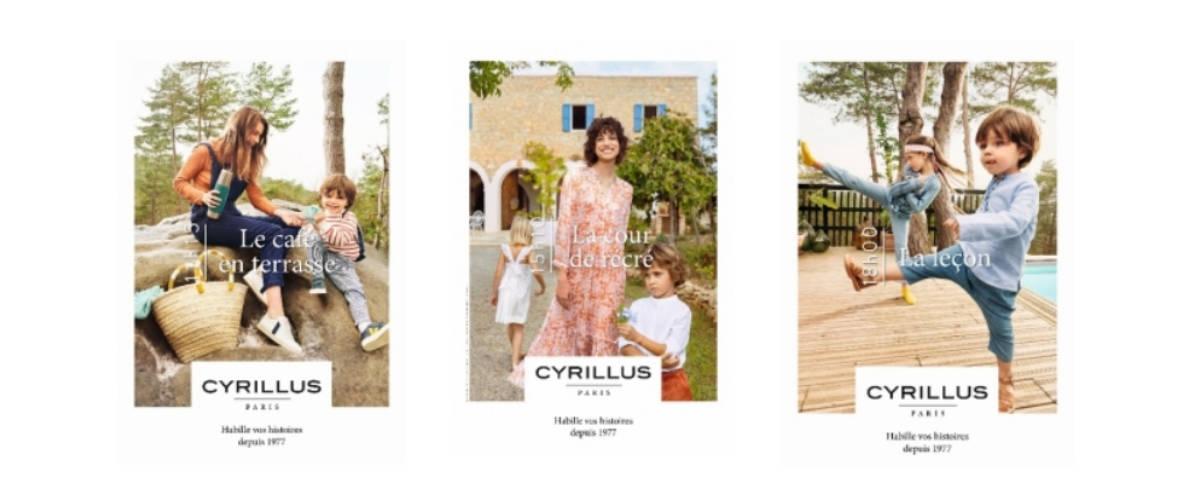 Visuels de la campagne Cyrillus