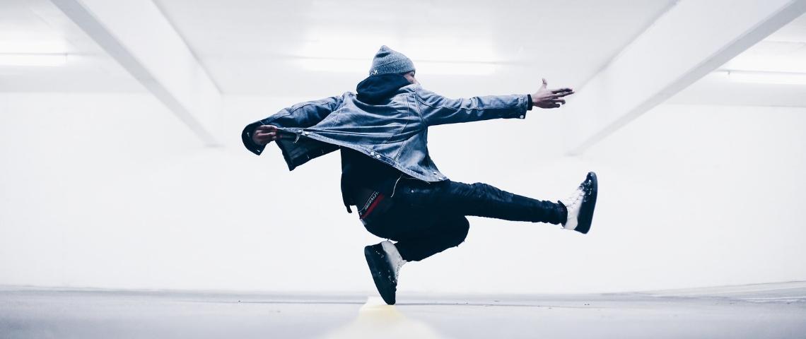 danseur en freestyle