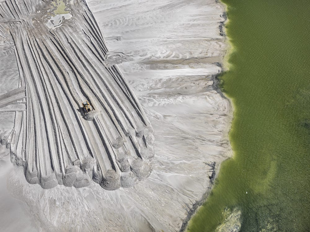 Edward Burtynsky - Phosphor Tailings, Near Lakeland, Florida, USA (2012)