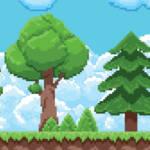 4 arbres en pixel art