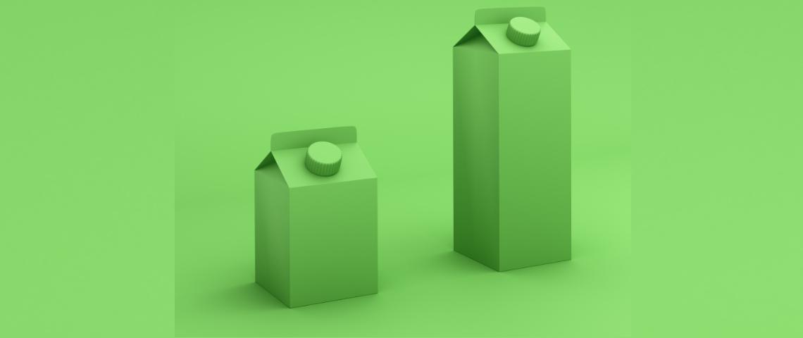 deux packagings verts