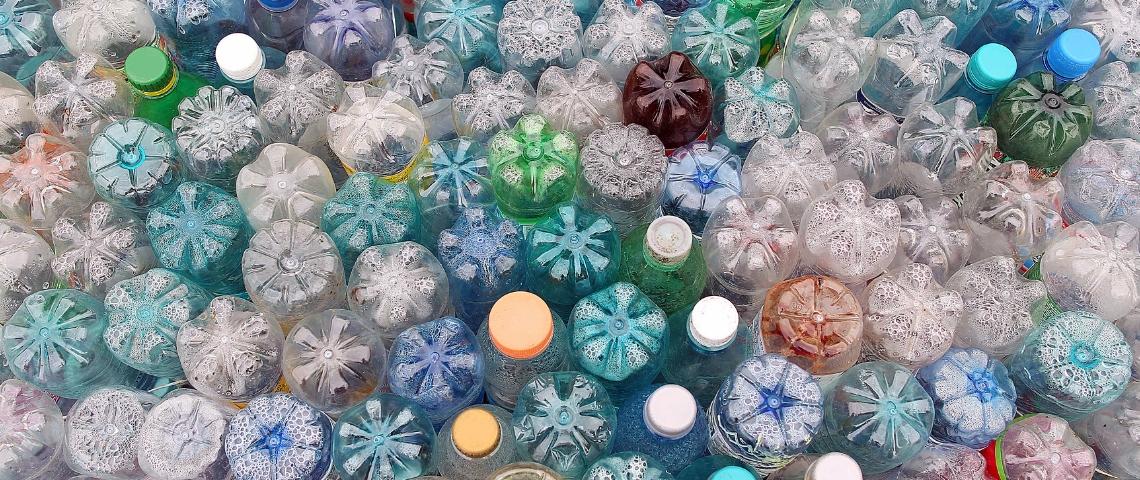 des bouteilles de plastiques
