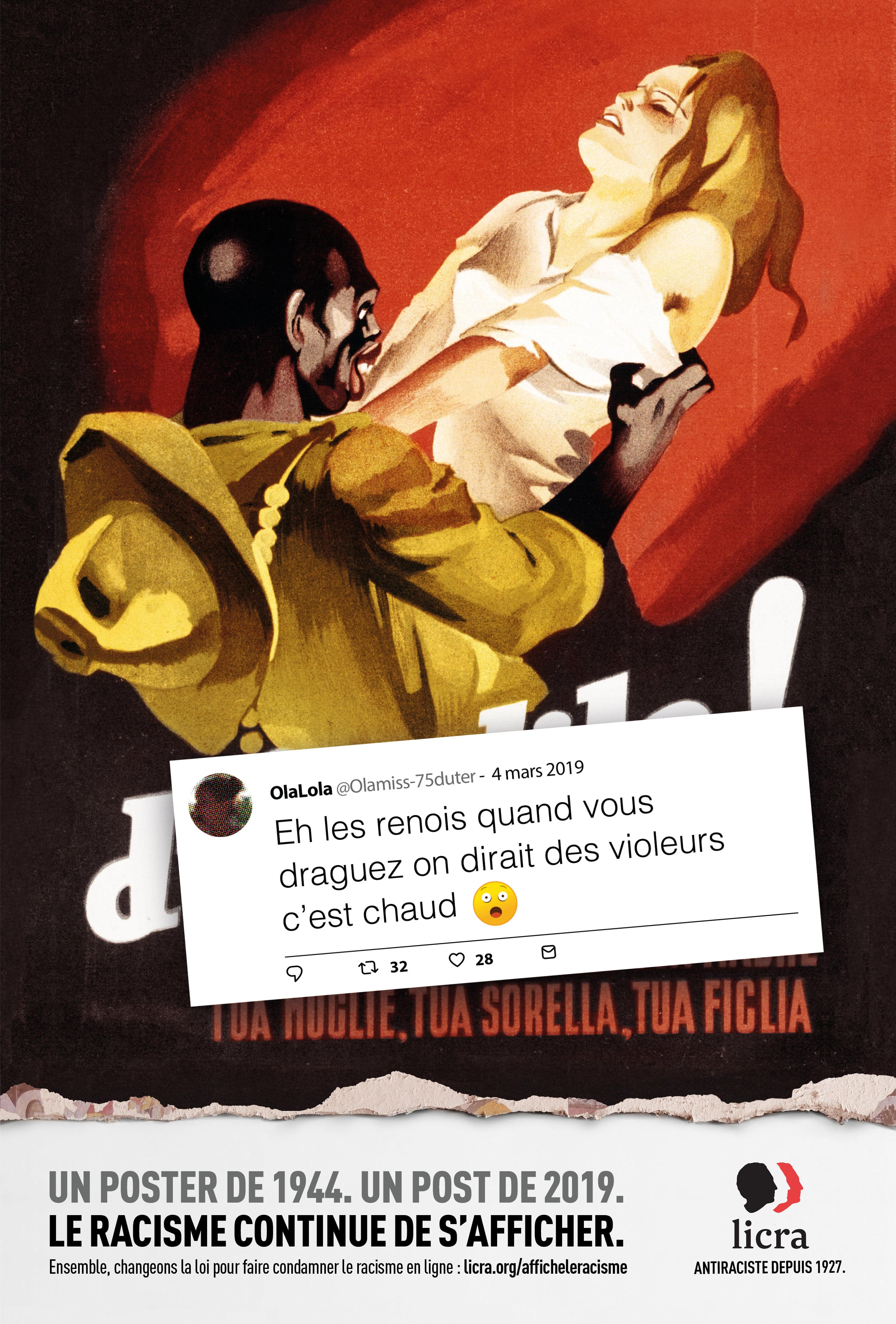 Affiche de la LICRA
