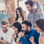 des salariés heureux dans une entreprise