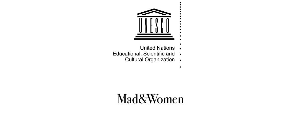 Logos de l'UNESCO et de l'agence Mad&Women
