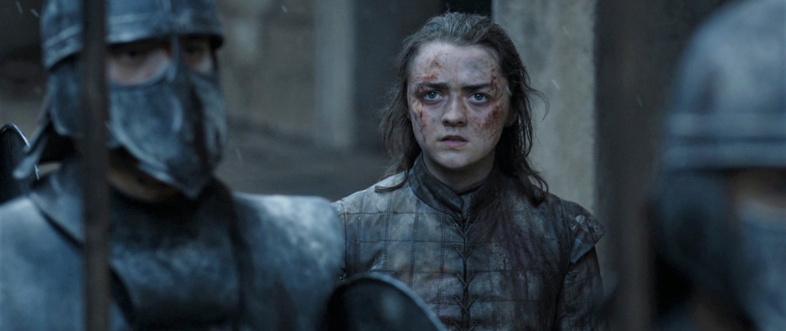 Arya Stark blessée dans Game of Thrones