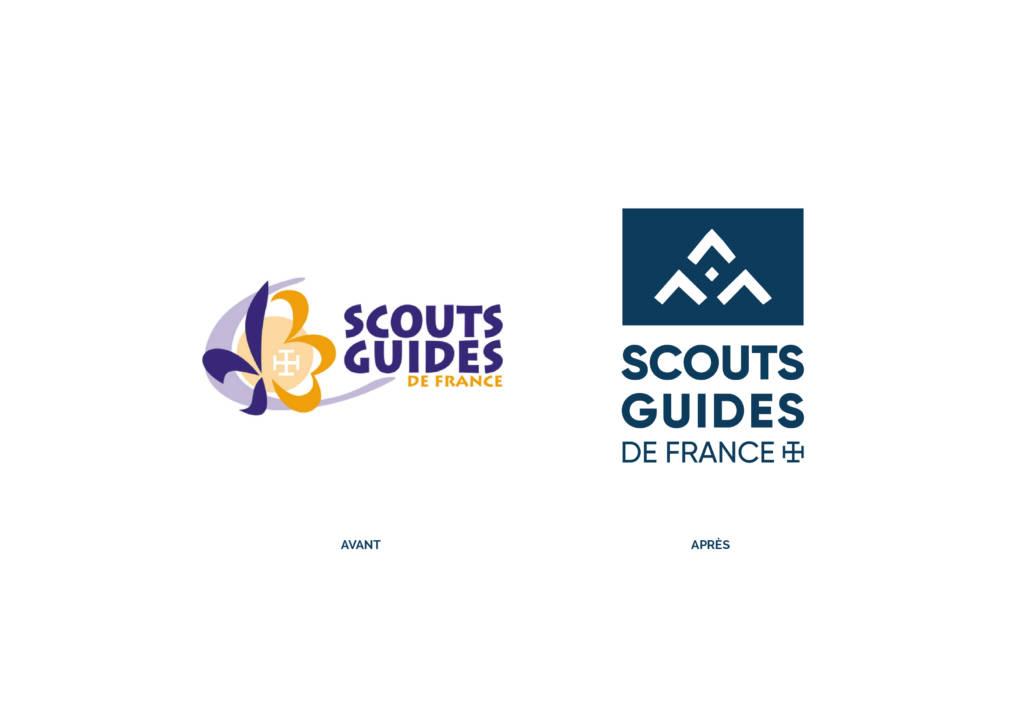 Ancien et nouveau logo des Scouts et Guides de France