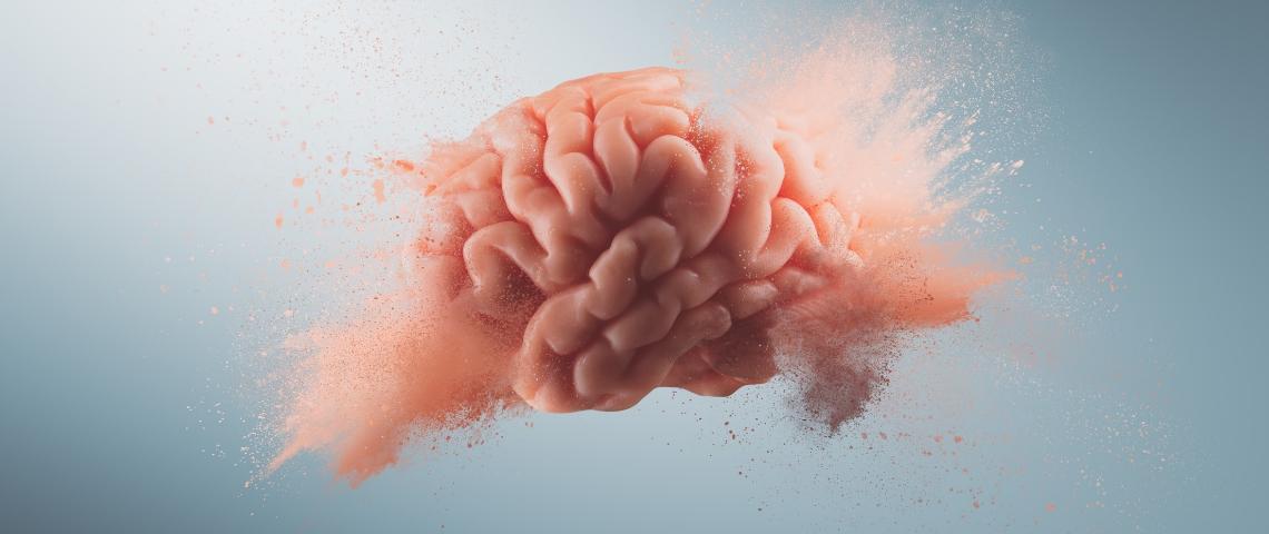Un cerveau en train d'exploser