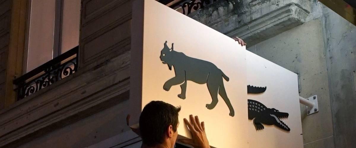 Installation de l'opération Lacoste  - Save Our Species -