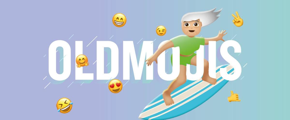 l'Apef créer des emoji pour personnes agées, les  #OLDMOJIS
