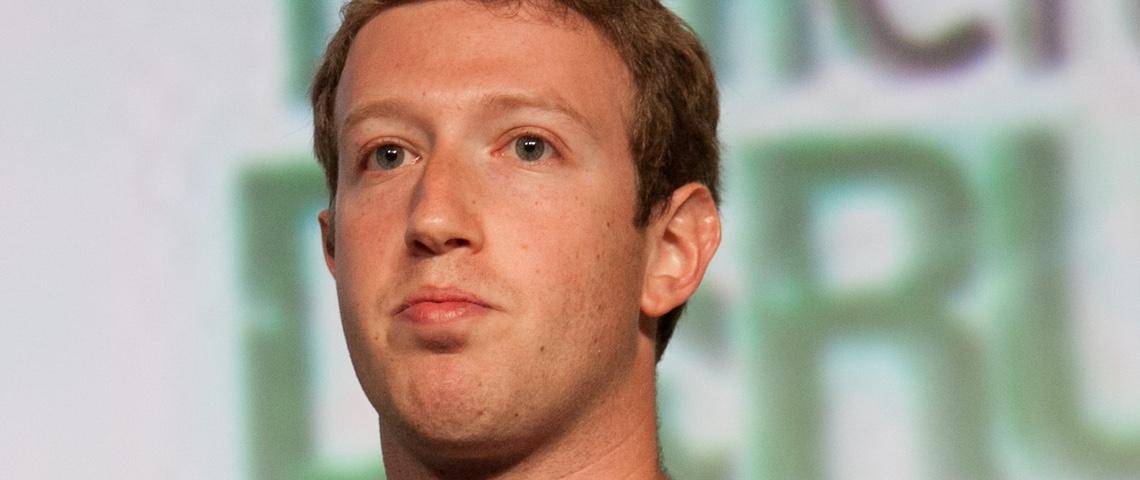 Mark Zuckerberg pendant une conférence Tech Crunch.