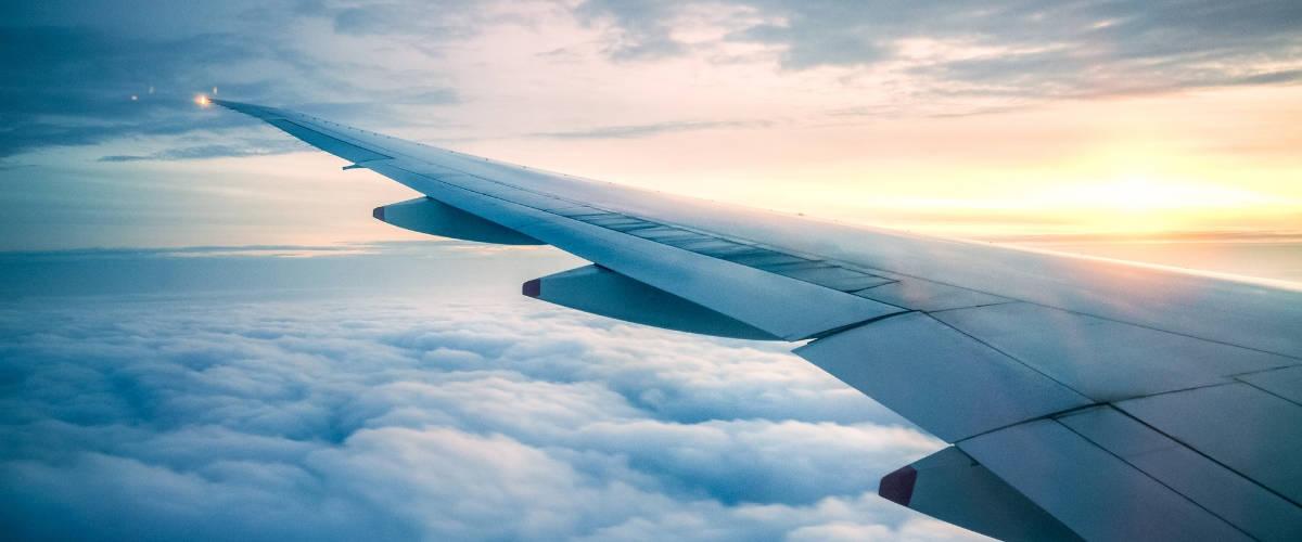 L'aile d'un avion