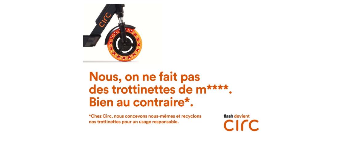 Une communication de la marque de trottinettes électriques Circ