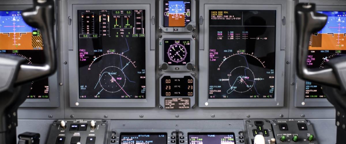 le tableau de bord d'un avion