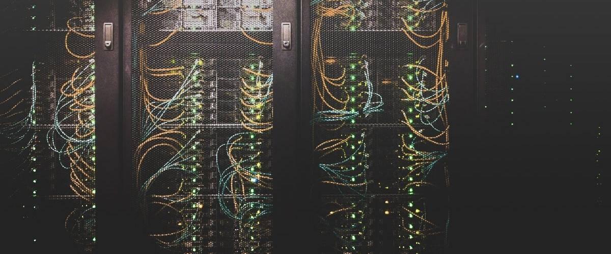 Gros plan d'un centre de base de données