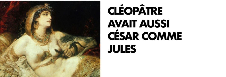 Affiche de la campagne 2019 Gleeden. Portrait de la Reine égyptienne Cléopatre.