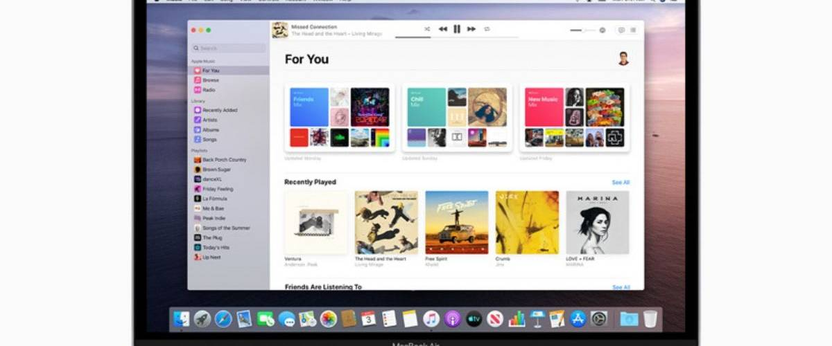 Le logiciel Apple Music qui vient remplacer Itunes