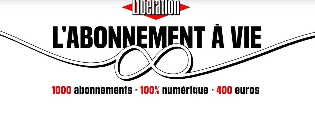 Capture d'écran issue de la campagne Libération  - L'abonnement à vie -