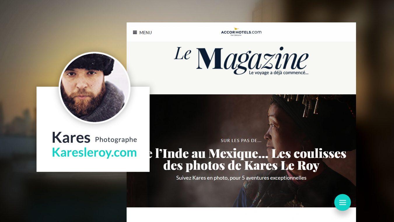 Capture d'écran du Magazine