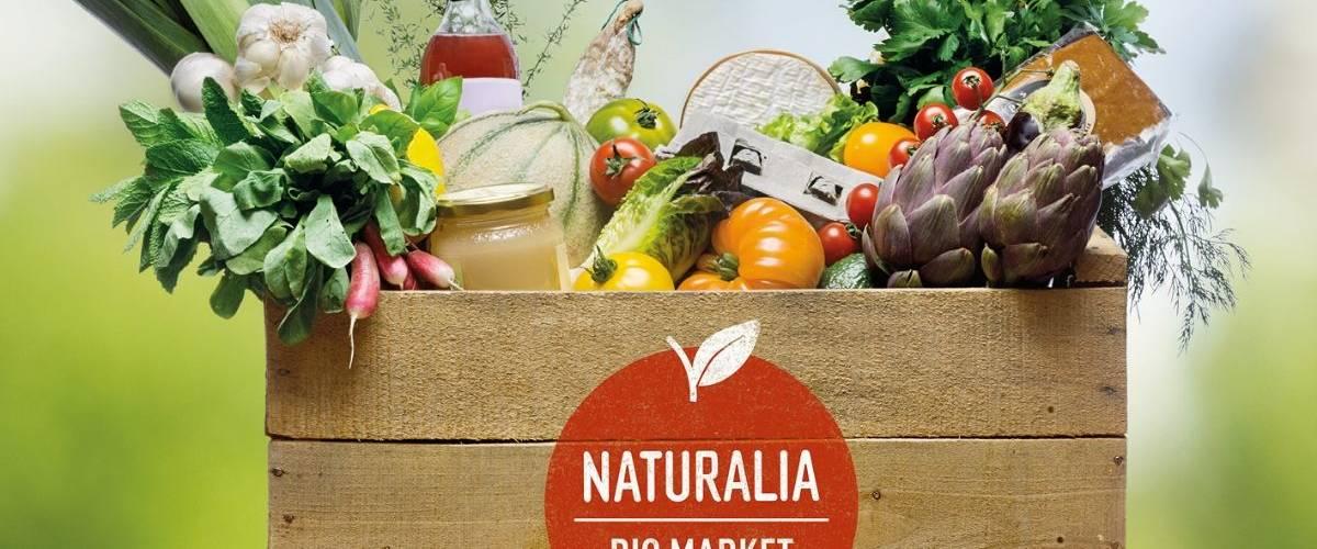 Un panier de produits Naturalia