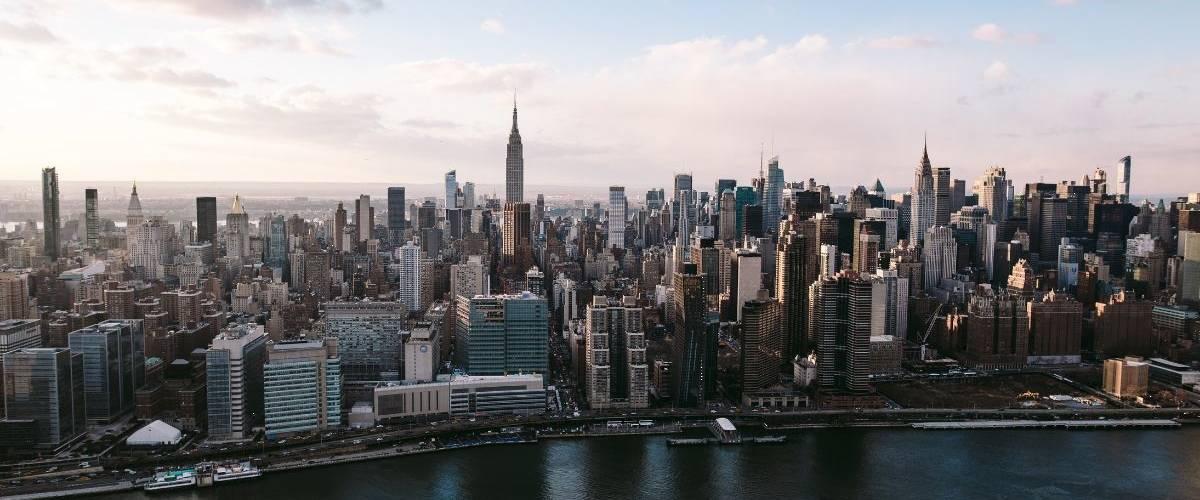 Panorama de la  - skyline -  de New York -